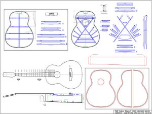 CAD Acoustic Bass Guitar Plan