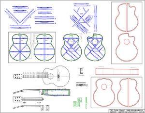 CAD Small Jumbo Acoustic Guitar Plan