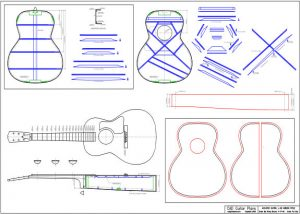 CAD L-00 Gibson Style Acoustic Guitar Plan