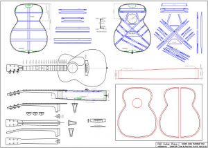 CAD Auditorium Style Acoustic Guitar Plan