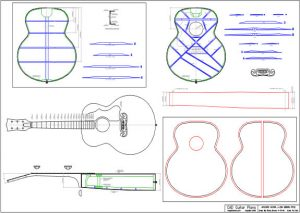CAD J-200 Gibson Style Acoustic Guitar Plan