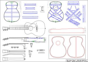 CAD Orchestra Style Acoustic Guitar Plan