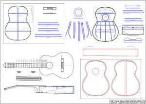 CAD Manuel Contreras II Style Classical Guitar Plan