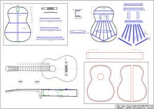 CAD Hermann Hauser Sr. Style Classical Guitar Plan