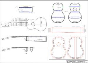 CAD Soprano Ukulele Plan Martin Style