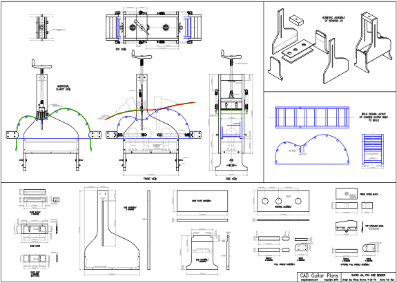CAD Fox Style Guitar Side Bender Plan