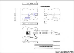 CAD Telecaster Electric Guitar Plan Fender Style