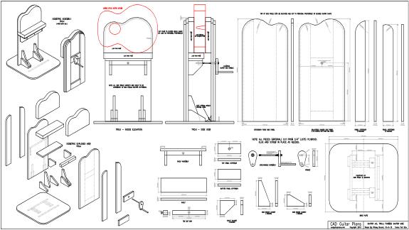 CAD Guitar Troji Plan - Foam Guitar Vise Jig