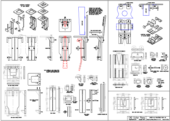 CAD Guitar Neck Joint Alignment Jig Plan