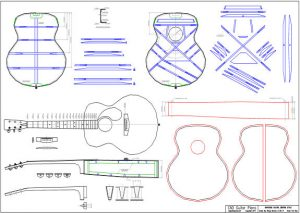 CAD Baritone Acoustic Guitar Plan Martin Style