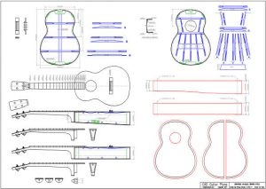 CAD Baritone Ukulele Plan Martin Style
