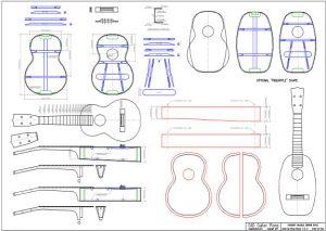 CAD Concert Ukulele Plan Martin Style