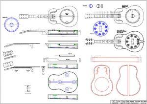 CAD Dobro Resonator Style Guitar Plan - Biscuit Bridge