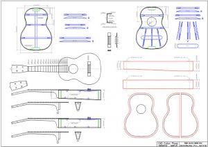 CAD Tenor Ukulele Plan Martin Style