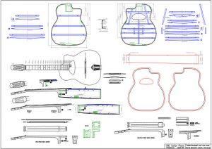 CAD Selmer Maccaferri Gypsy Style Guitar Plan