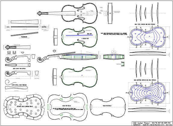 CAD Violin Plan Del Gesu King Joseph Style