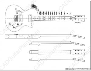 Blueshawk      CAD Guitar Plans