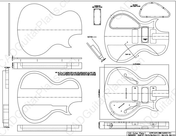 pdf blueshawk electric guitar plan