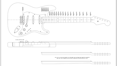 Pdf cad guitar plans electric acoustic guitars more cad the7 product solutioingenieria Images