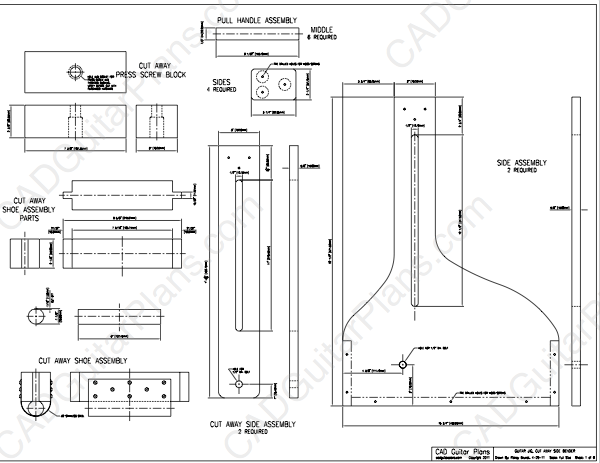 Cutaway Guitar Side Bender Plans