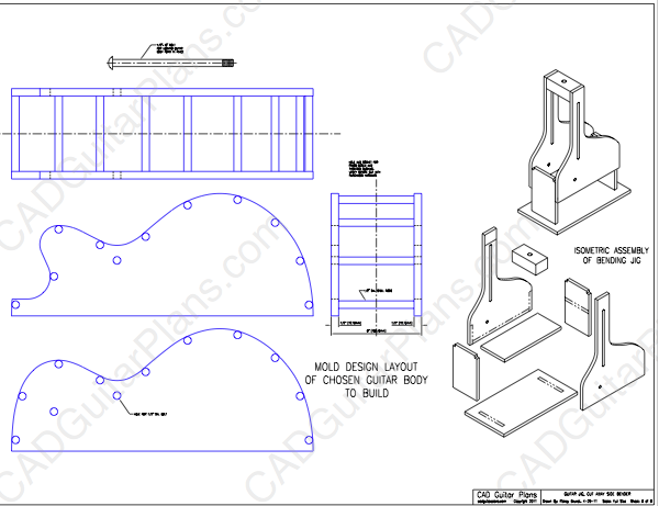 Pdf cutaway guitar side bender plans cad guitar plans for Side by side plans