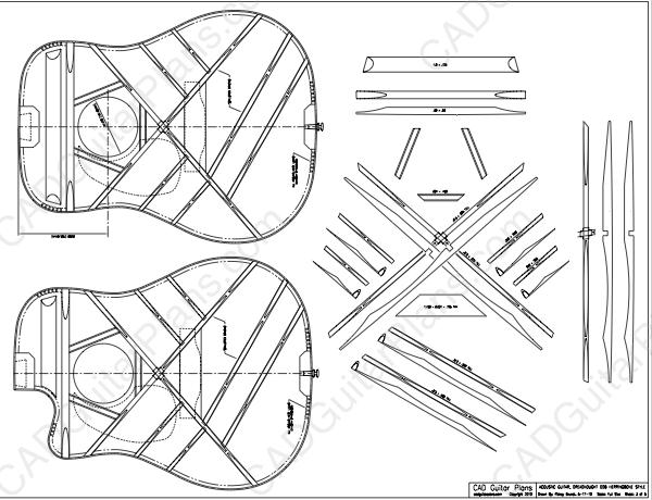 Pdf Dreadnought D28 Acoustic Guitar Plan