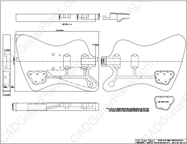 PDF Firebird Studio Electric Guitar Plan Gibson Style Sheet 2