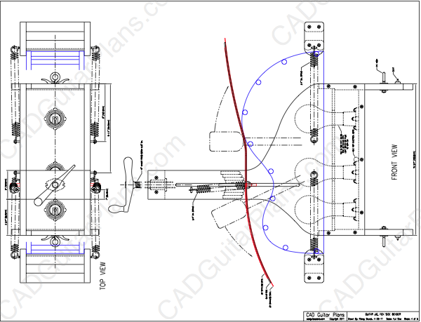 pdf fox style guitar side bender plan