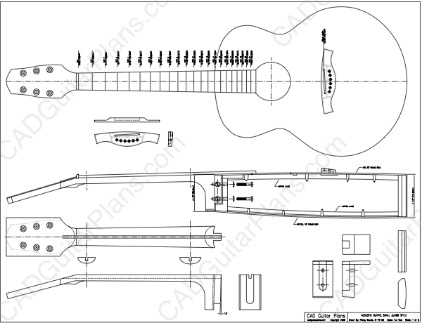 PDF Small Jumbo Acoustic Guitar Plan