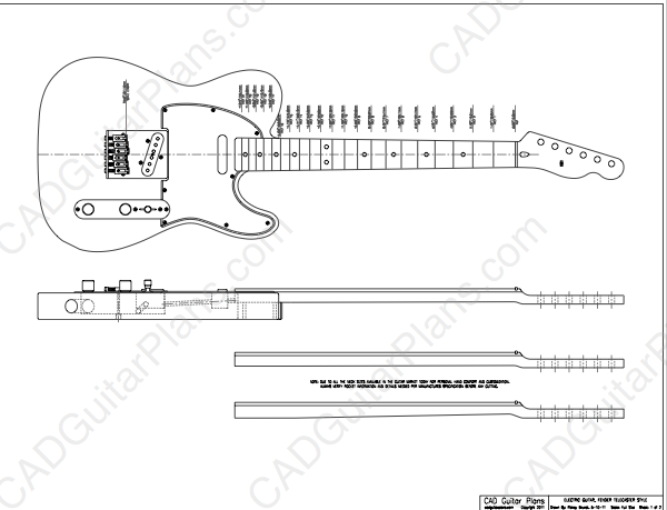 PDF Telecaster Electric Guitar Plan Fender Style