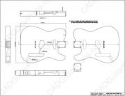 PDF Telecaster Electric Guitar Plan FenderStyle Sheet 2