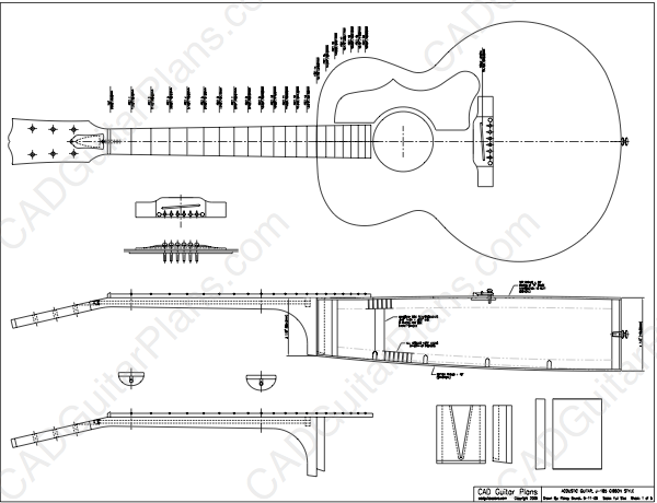 PDF J-185 Gibson Style Acoustic Guitar Plan