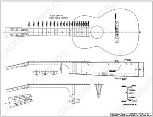 PDF Size 0 Martin 12 Fret Body Style Acoustic Guitar Plan