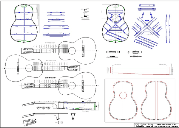 00 12 fret acoustic guitar plan image